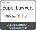 Mitchell R. Kahn Super Lawyers Selected 2018